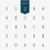 25 idea light bulb minimal line icons. Vector Stock Images