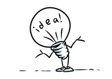 Idea light bulb  no problems Royalty Free Stock Photo