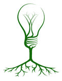 Idea light bulb tree Stock Image