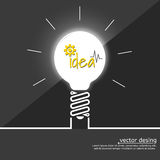 Idea light bulbs Stock Photos
