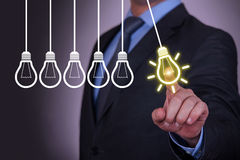 Idea Light Concepts on Visual Screen Royalty Free Stock Photography
