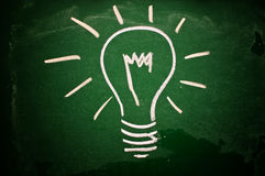 Idea lightbulb Royalty Free Stock Photos