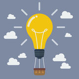 Idea lightbulb balloon Stock Photo