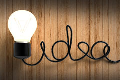Idea lightbulb Stock Photo
