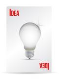 Idea lightbulb playing card Stock Photo