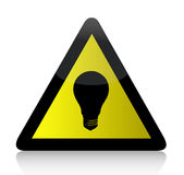 Idea lightbulb yellow illustration design. Over white Stock Photos