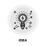 Idea Line Icon. Idea icon vector. Flat icon isolated on the white background. Editable EPS file. Vector illustration Royalty Free Stock Image