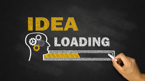 Idea loading concept Stock Photography