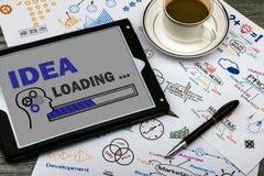 Idea loading concept Stock Photo