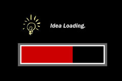 Idea Loading - Graphical. royalty free stock photos