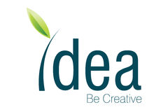 Idea Logo. Logo Design for fresh idea and how to be creative Stock Photography