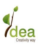 Idea Logo. Logo Design for fresh idea and how to be creative Royalty Free Stock Photo