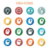 Idea long shadow icons Royalty Free Stock Photography