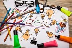 Idea luminosa Fotografia Stock Libera da Diritti
