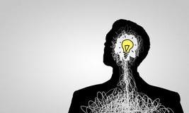 Idea luminosa Immagine Stock