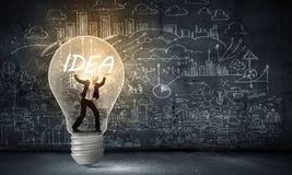 Idea luminosa! Immagine Stock Libera da Diritti