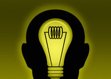 Idea luminosa illustrazione di stock