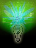 Idea luminosa della lampadina Fotografia Stock