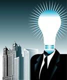 Idea luminosa di affari illustrazione di stock