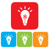 Idea making money, Light bulb with Dollar symbol Stock Photography