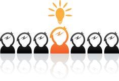 Idea man stock illustration