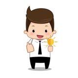 Idea man business Royalty Free Stock Photography