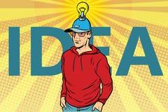 Idea man, casual clothes vector illustration