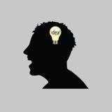 Idea in man head vector illustration Royalty Free Stock Photo