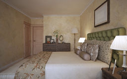 Idea of mediterranean bedroom Royalty Free Stock Photo