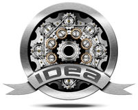 Idea - Metal Icon with Gears Royalty Free Stock Images