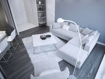 Idea of minimalist living room studio Stock Photo