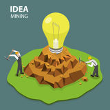 Idea mining flat isimetric vector illustration Stock Photo