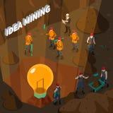 Idea Mining Isometric Concept Stock Photography