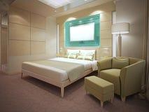 Idea of modern flat interior Royalty Free Stock Photography