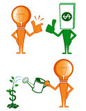 Idea and Money. Business and finance  symbols and concepts Royalty Free Stock Photos