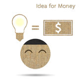 Idea is money Stock Photography