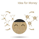 Idea is money Royalty Free Stock Image
