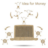 Idea is money Royalty Free Stock Photo