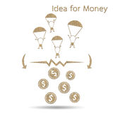 Idea is money Royalty Free Stock Photos