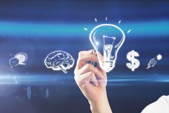 Idea and money concept royalty free stock images