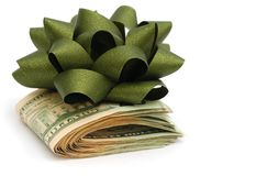 Idea of money gift Stock Photos