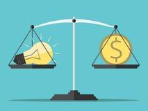 Idea, money and scales Stock Photos