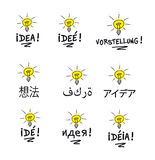 Idea multilingual Stock Photo