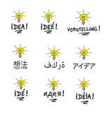 Idea multilingual stock photo