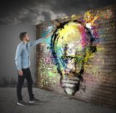 Idea murales Royalty Free Stock Photo