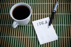 Idea on a Napkin Royalty Free Stock Image