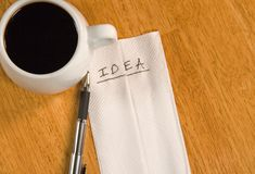 Idea on a Napkin Stock Images