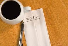 Idea on a Napkin Stock Images
