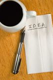 Idea on a Napkin Royalty Free Stock Photography