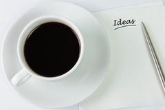 Idea on a napkin Royalty Free Stock Photo